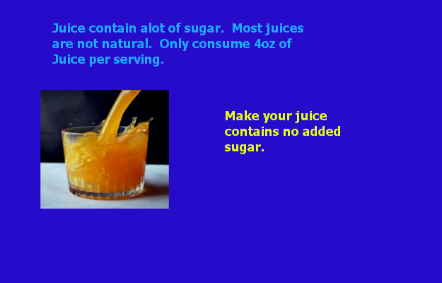 juice with no added sugar